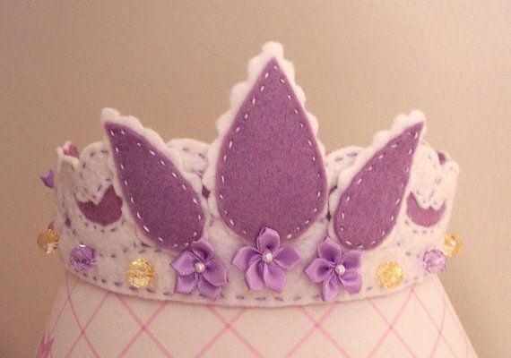 Rapunzel Tiara Princess Crown in White and by pixieandpenelope, $30.00