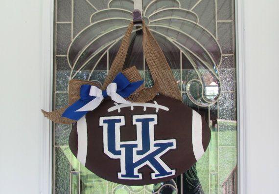 University of Kentucky Football Door Hanger
