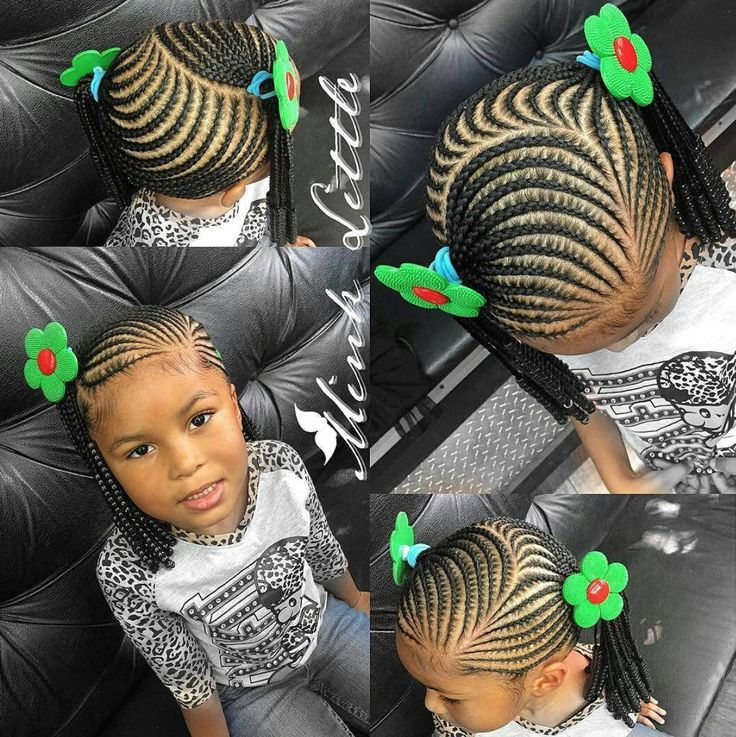 Hairstyles For Black Little Girls one side braids on a super cute little girl black girls hairstylescute Find This Pin And More On Love The Kids Braidstwist And Natural Styles By Lisabhookinitup