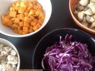 Rode currysoep met zoete aardappel, rode kool, champignons en gerst - bijnanetzolekkeralsthuis.nl