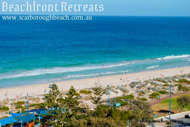 Reserve your holiday hotel and resort accommodation in these foreshore self contained seaside or beach front apartments on famous Scarborough Beach Perth.
