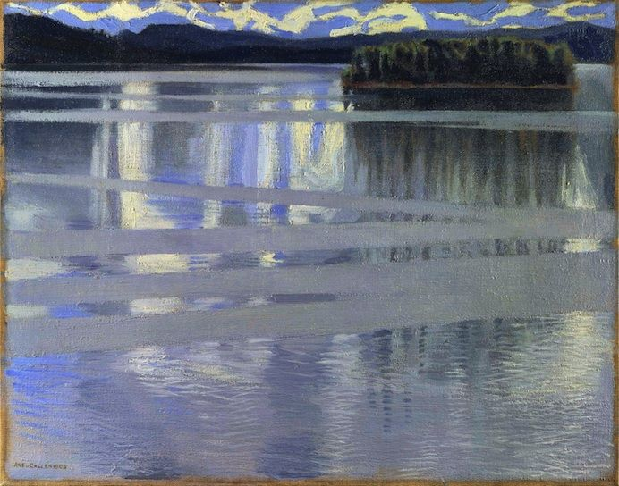 *  Akseli Gallen-Kallela (1865-1931) Lake Keitele, 1905, Oil on Canvas - 53 x 66 cm  Londres, National Gallery