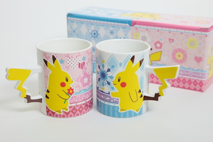 Pokemon Pair Pikachu Tail Mug Cup Set