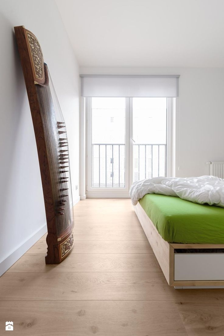 Mieszkanie M&M - Średnia sypialnia małżeńska z balkonem / tarasem, styl nowoczesny - zdjęcie od 081architekci