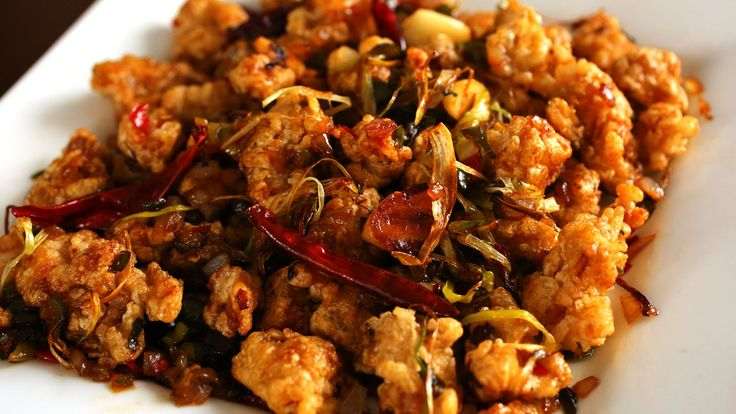 Kkanpunggi is spicy garlic fried chicken stir-fried with vegetables and a sweet and sour sauce. It's a Korean Chinese dish, originating in China but modified...