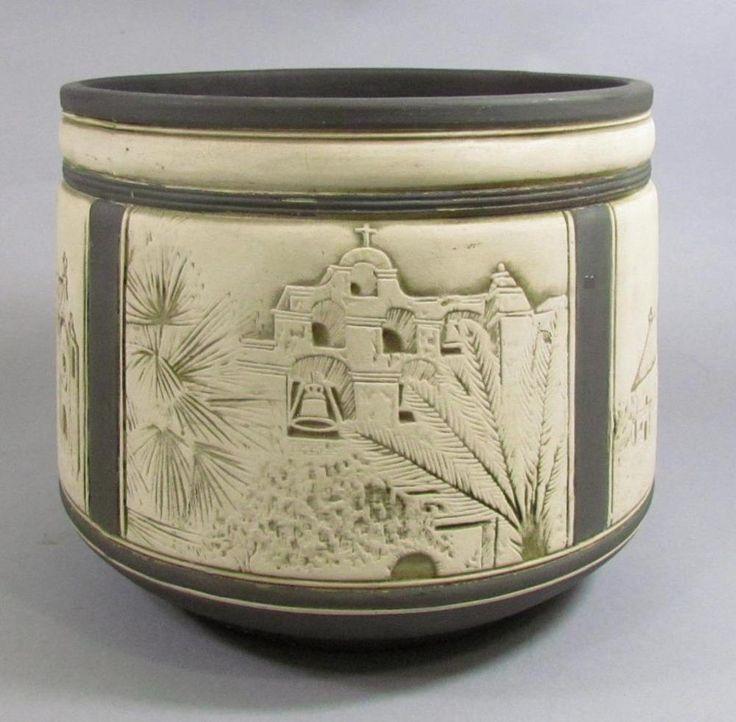 Rare Weller Art Pottery Claywood Burnt Wood Jardin…
