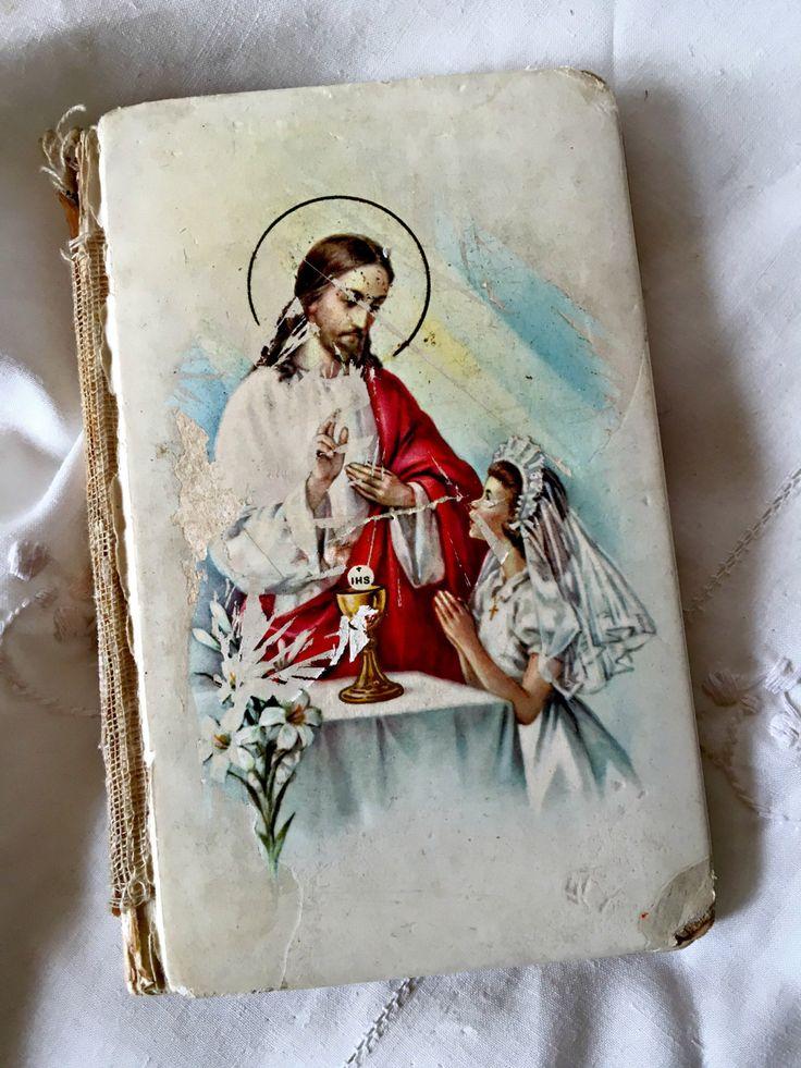Vintage child's missal, St. Joseph missal, 1st communion book, confirmation book, celluloid missal, child's prayer book catholic missal book by LittleBeachDesigns on Etsy