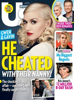 Gavin Rossdale was cheating on his wife, Gwen Stefani, for years with their family's nanny, Mindy Mann -- exclusive details from Us Weekly's new issue