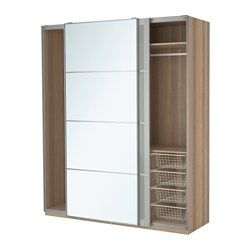 Another PAX Wardrobe picture.  Like the wood color interior for pantry.  Need help determining size needed for kitchen.