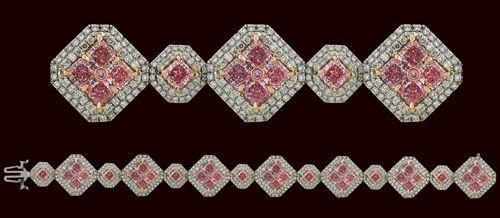 pink diamond bracelets