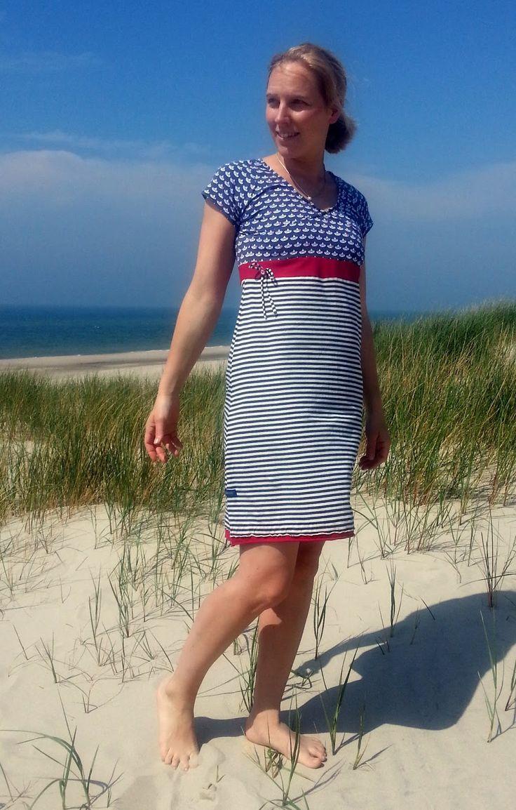 Küstenmädels: maritimes Kleid von #allerlieblichst