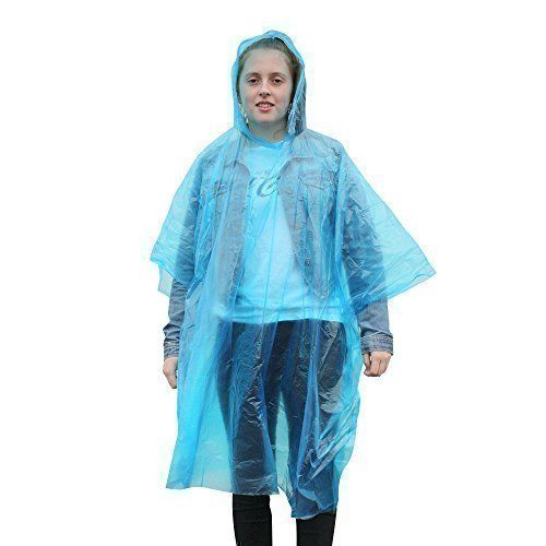 Emergency Disposable Rain Poncho - 8 PACK