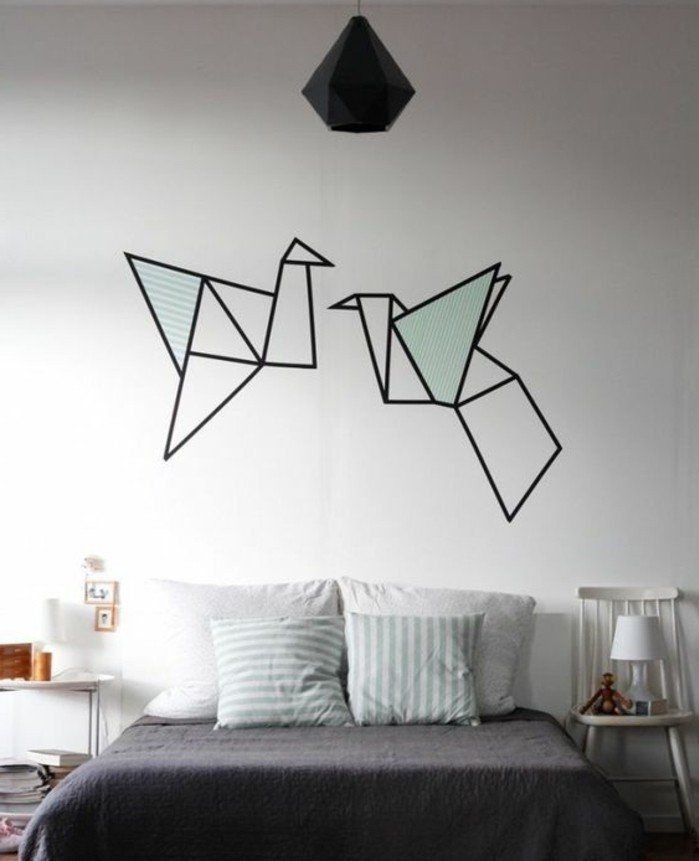1000 ideas about peinture chambre on pinterest peinture for Decoration murale chambre a coucher