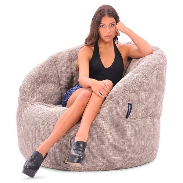 Interior Bean Bags | Butterfly sofa Cream Bean bag | Ambient Lounge