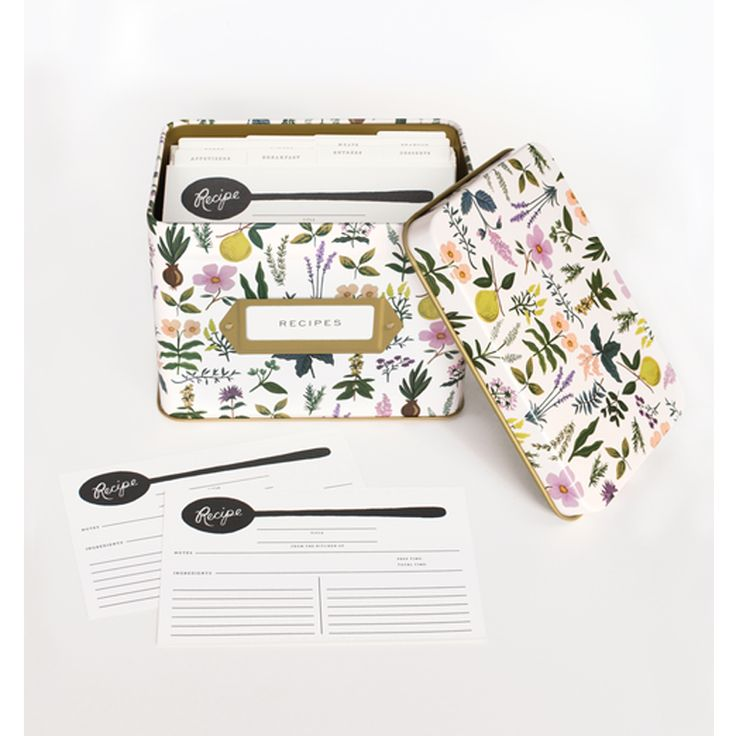 Elsas Hem - Recept box, Herb Garden, Rifle Paper Co