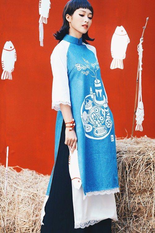 Những mẫu áo dài cách tân làm say lòng mỹ nhân Việt - 12