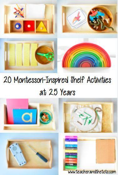 Montessori-Inspired Shelf Activities at 2.5 Years