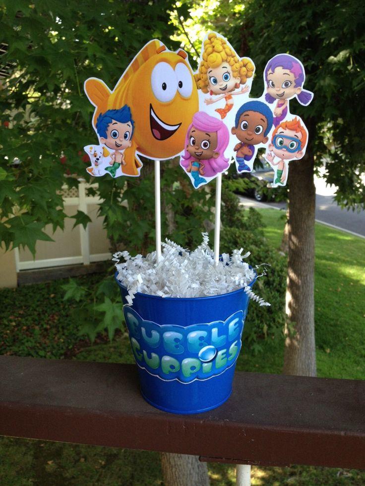 Best 25 bubble guppies centerpieces ideas on pinterest bubble guppies party bubble guppies - Bubble guppies center pieces ...