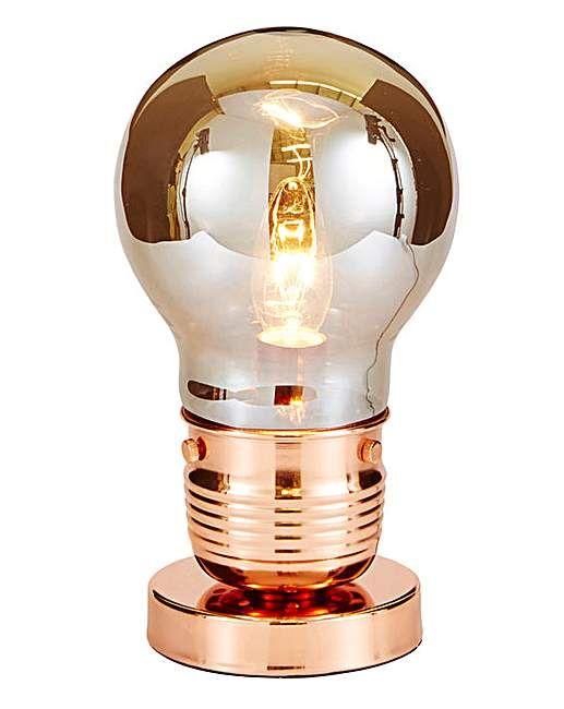 Copper Bulb Table Lamp   Home Essentials