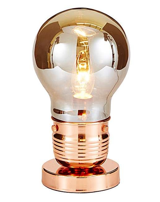 Copper Bulb Table Lamp | Home Essentials