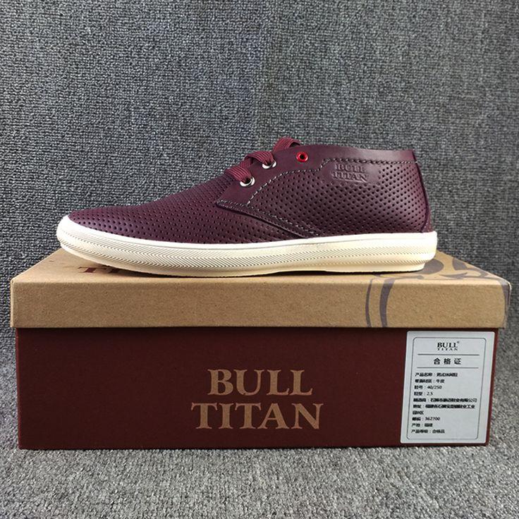 Весной и летом обувь мужчина случайной повседневной обуви дышащие перфорированные кожаные ботинки, мужские кожаные туфли стильная атмосфера - Taobao