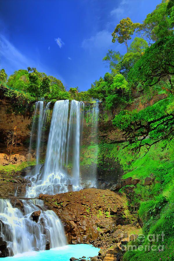 Dambri Waterfall - Central Highland of VietnamWaterfall Photographers, Favorite Places, Dambri Waterfall, Waterfal Photographers, Vietnam Water, Art Prints, Central Highlands, Water Fall, Waterfall Cavs