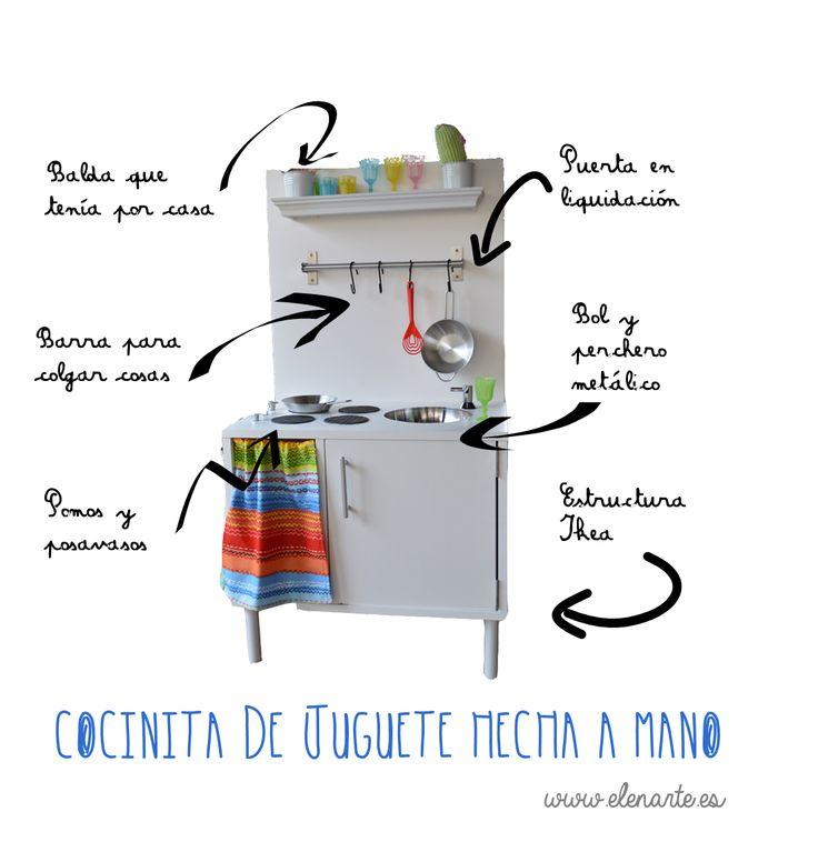 cocinita de juguete hecha a mano / www.elenarte.es