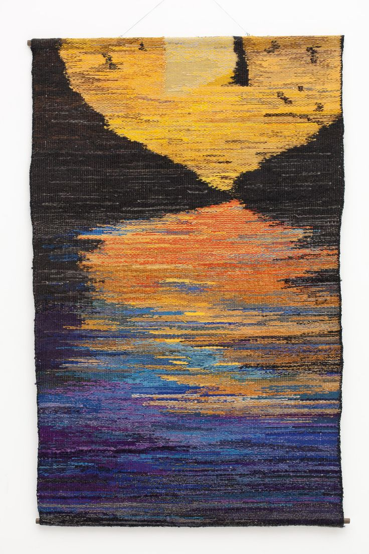 Laurie Herrick, The River, 1985; Wool; 45 x 30 inches; Collection of the City of Lake Oswego Arts Council. Inspired by: Eliot Porter, The Place No One Knew: Glen Canyon on the Colorado, New York: Ballantine Books, 1963.  Photo by: Dan Kvitkaimage 35 of 40nextprevious
