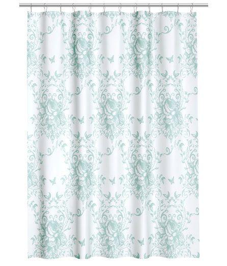 Sjekk ut dette! Et dusjforheng i vannavvisende polyester med trykt mønster. Maljer i metall øverst. Ringer for oppheng selges separat. - Besøk hm.com for å se mer.