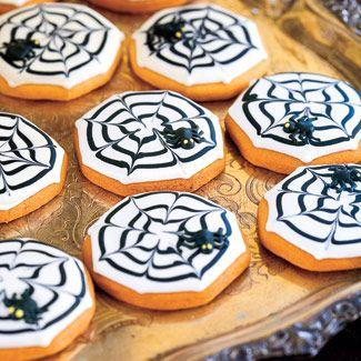 Halloween Cookies - Teia de Aranha