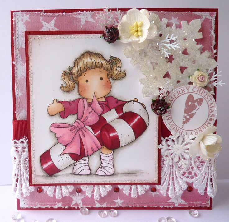 christmas rubber stamps for cards | Magnolia TILDA WANTS A HUG Rubber Stamp Merry Little Christmas 2010