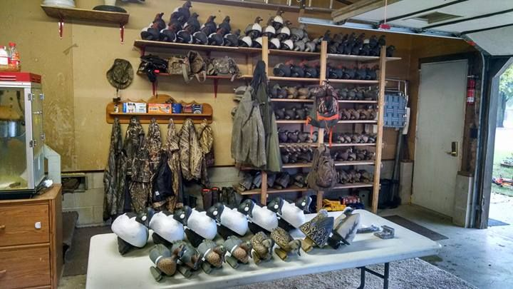 Garage Decoy Storage Waterfowl Huntress In 2019 Waterfowl Hunting Hunting Cabin