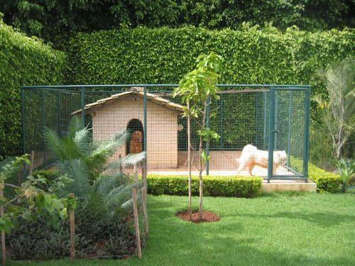 Outdoor dog pen kennel pinterest dog pen house and for Dog house pen