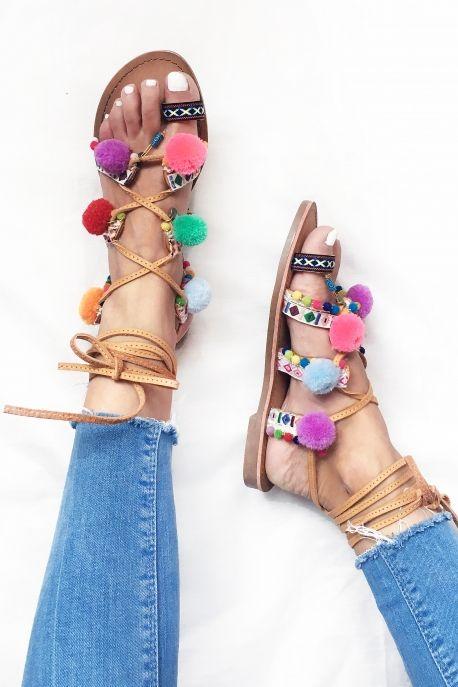 Sandales à pompons Pretty Wire 34.90€