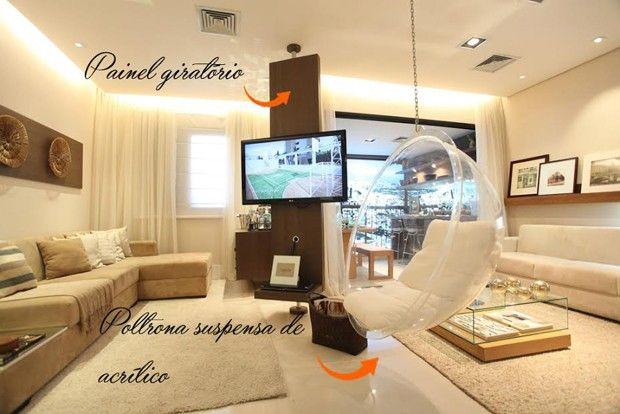 Ver Fotos De Sala De Tv ~  sofisticadas para a sala de tv camila small room ideas living