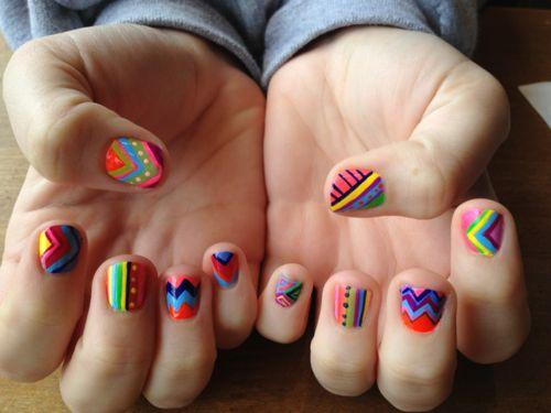 these! ahh!: Nails Nails, Nails Art, Nailart, Nails Design, Color, Tribal Nails, Nails Ideas, Tribal Prints, Aztec Nails
