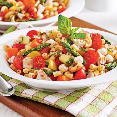 Salade de pâtes sans gluten au thon et aux légumes - Recettes - Cuisine et nutrition - Pratico Pratique