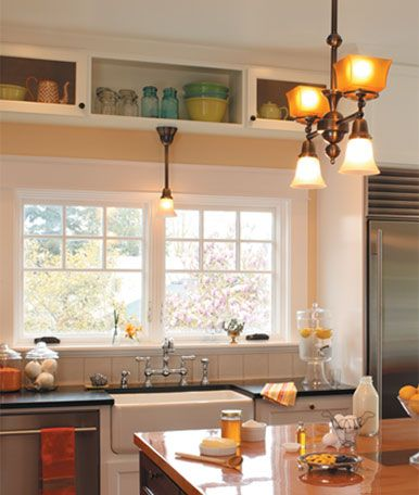 Space Over The Kitchen Windows.