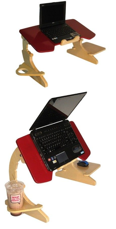 A great desk design for people who prefer to lie on the bed to use computer. - http://imwm.org/creative-laptop-desk-design-11-10/