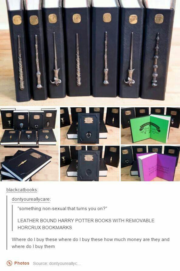 Harry Potter leatherbound books... amazing