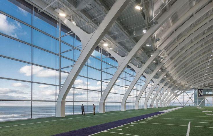 View from Wilson Field in Ryan Fieldhouse in 2019