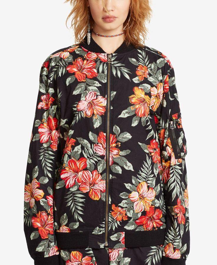 Denim & Supply Ralph Lauren Floral-Print Baseball Jacket