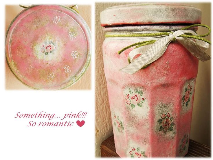 Glass art... acrylic and decoupage. So pink, so romantic, for every season!