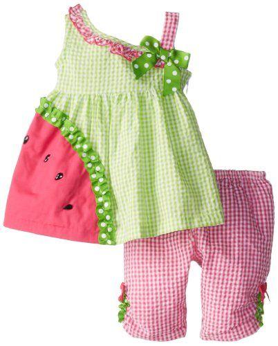 Save $22.01 on Bonnie Baby Baby-Girls Newborn Watermelon Applique Legging Set; only $17.99