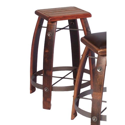 2 Day Designs Pine Inch Stool with Wood Seat Inch Bar