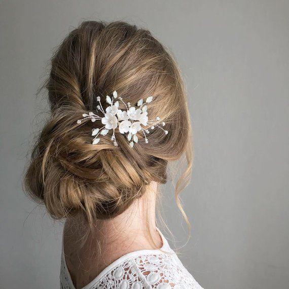 Opal Hair PinWedding Opal Crystal Hair Pin Bride Opal Crystal Hair Piece Side Hair Pin Gold Small Hair Pin