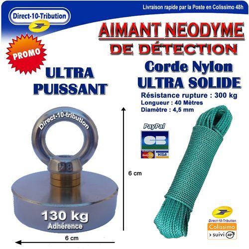 Direct-10-Tribution - Aimant de détection 130 Kg