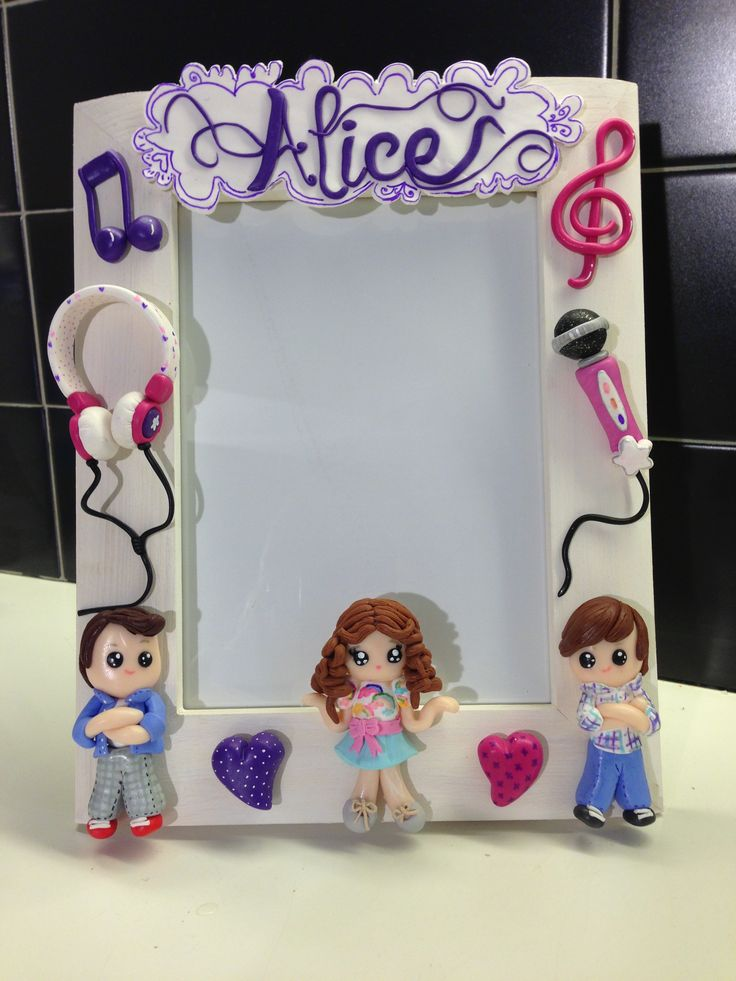 Violetta frame - fimo decorated