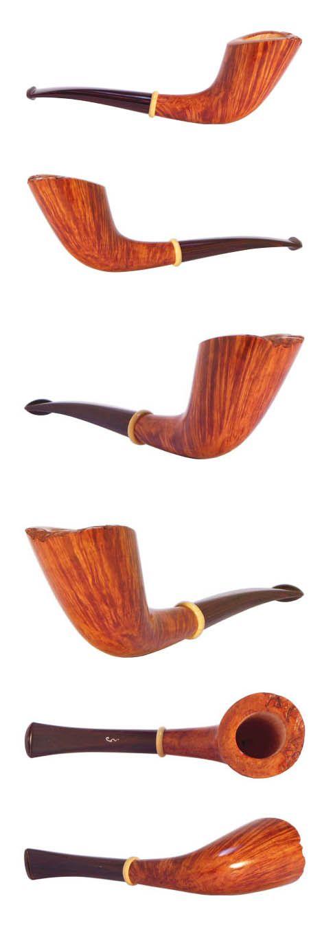 Pipa 5 -Cornetto - €650,00 : Pipe artigianali per fumatori realizzate da Maurizio Tombari. Vendita online pipe.
