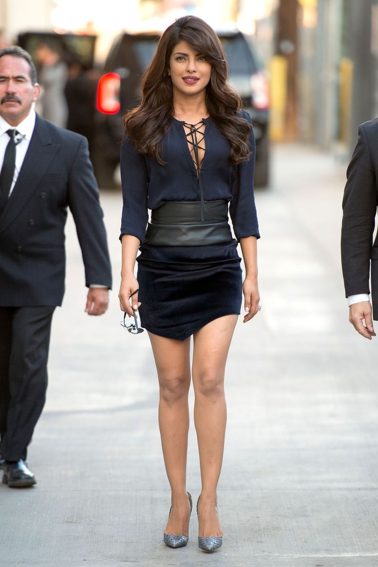 Priyanka Chopra arrives at Jimmy Kimmel Live in Los Angeles on Sept. 28, 2015. - Cosmopolitan.com